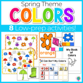 Spring Color Activities | Spring Color Sorting | Spring Centers