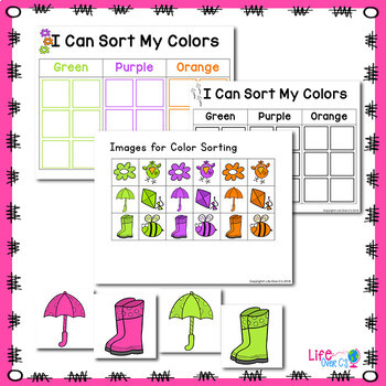 Spring Color Activities   Spring Color Sorting   Spring Centers