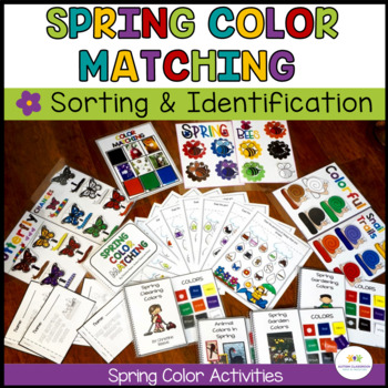 Spring Color Activities for Generalization {Autism, Early Childhood}