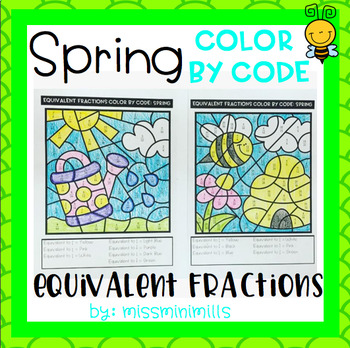 Spring Color By Code: Equivalent Fractions