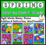 Spring Coloring Pages Color By Code First Grade