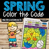 Spring Color By Code Multiplication Facts | Spring Activit