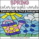 Spring Color By Sight Words for Pre-K & Kindergarten