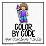Spring Color By Code for Punctuation Marks (Leveled)