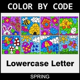 Spring: Color By Letter (Lowercase)