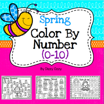 Spring Color By Numbers 1 to 10