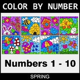 Spring Color By Number 1 - 10