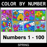 Spring Color By Number 1 - 100