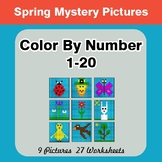 Spring: Color By Number 1-20 | Spring Mystery Pictures
