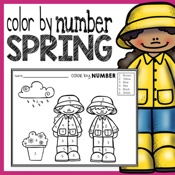 Spring Color By Number