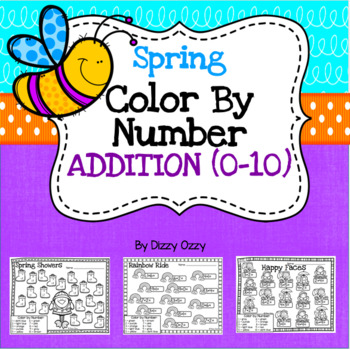 Spring Color By Number Addition to 10