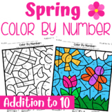 Spring Color By Number- Addition to 10
