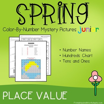 Color-By-Number Place Value, Spring Place Value Mystery Pi