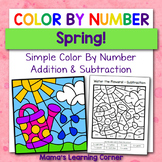Color By Number Worksheets for Spring