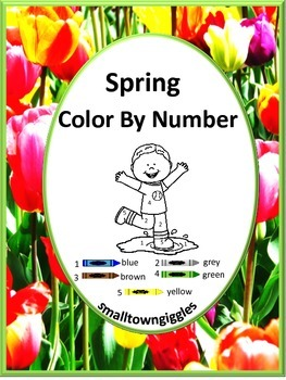Color by Number Spring,Early Finishers,Math Centers,Mornin