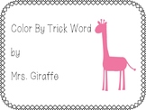 Spring Color By Trick Word