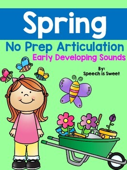 Spring Articulation Activities: Early Developing Sounds