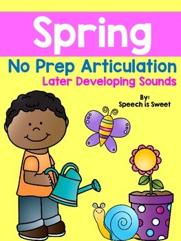 Spring Articulation Activities: Later Developing Sounds