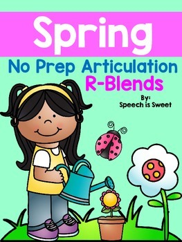 Spring Articulation Activities: R Blends