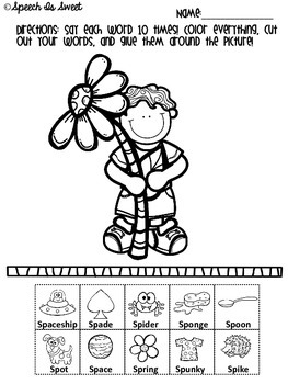 Spring Articulation Activities: S-blends