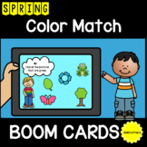 Spring Color Match BOOM CARDS™ Distance Learning