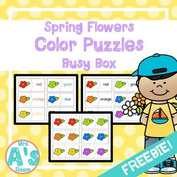 Spring Color Puzzles Busy Box