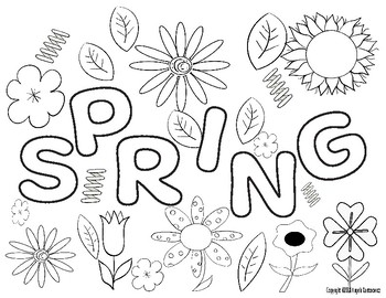 Spring Coloring Sheets Worksheets & Teaching Resources | TpT