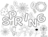 Spring Color Sheet