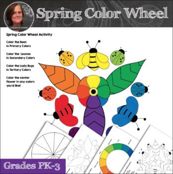 Spring Color Wheel Activity - Color Wheel Art Activity