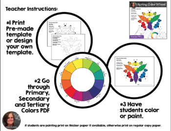 Spring Color Wheel Activity Color Wheel Art Activity By A Space To