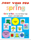 Spring Color-a-box Sight Word fun for Grades K, 1, 2