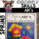Spring Color by Code ABC's (Uppercase and Lowercase)