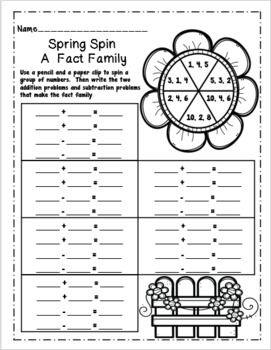 Spring Color by Addition and Subtraction Packet