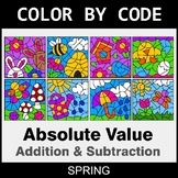 Spring Color by Code - Absolute Value: Addition & Subtraction