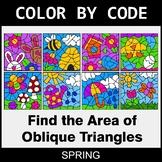 Spring Color by Code - Area of Oblique Triangles