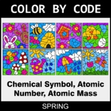 Spring Color by Code - Chemical Symbol, Atomic Number, Ato