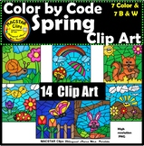 Spring Color by Code Clip Art  ClipArt