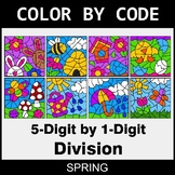 Spring Color by Code - Division: 5-Digit by 1-Digit