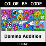Spring Color by Code - Domino Addition