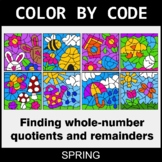 Spring Color by Code - Find Whole-Number Quotients and Remainders