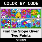 Spring Color by Code - Find the Slope Given Two Points