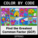 Spring Color by Code - Greatest Common Factor (GCF)