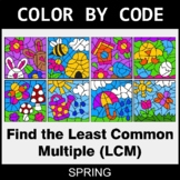 Spring Color by Code - Least Common Multiple (LCM)