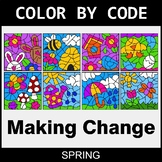 Spring Color by Code - Making Change