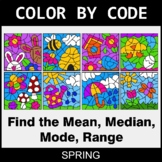 Spring Color by Code - Mean, Median, Mode, Range