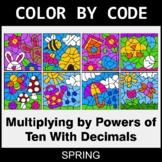 Spring Color by Code - Multiplying by Powers of Ten With Decimals