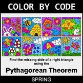 Spring Color by Code - Pythagorean Theorem