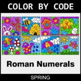 Spring Color by Code - Roman Numerals