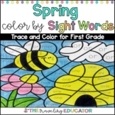 Spring Color by Sight Words for First Grade