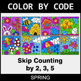Spring Color by Code - Skip Counting by 2, 3, 5